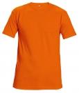 Bavlněné tričko TEESTA FLUO oranžová, s krátkým rukávem, UNISEX