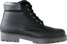Kožená zimní obuv Farmářka černá, zateplená beránkem